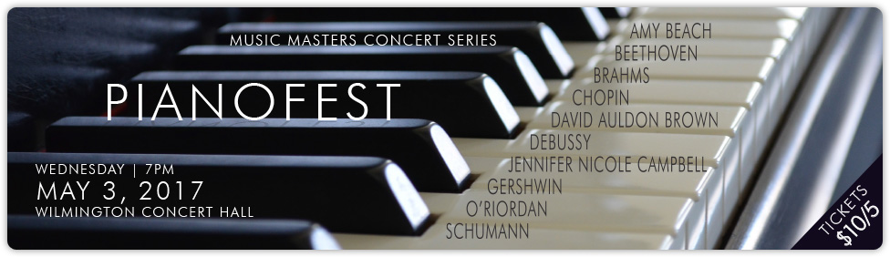 Join us for our rescheduled Music Masters: Pianofest concert on May 3rd!