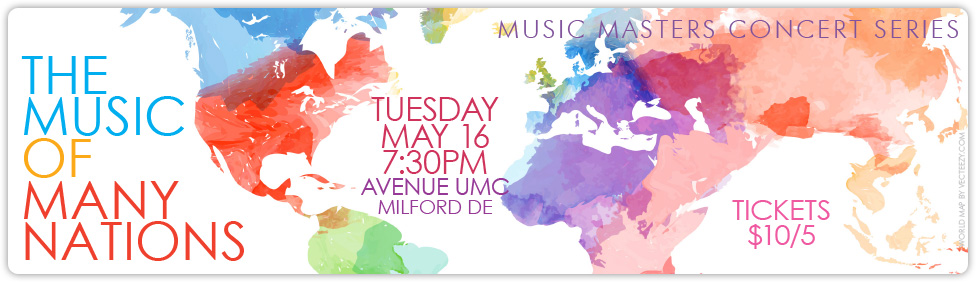 Join us for our Music Masters: Music of Many Nations concert in Milford on April 8th!